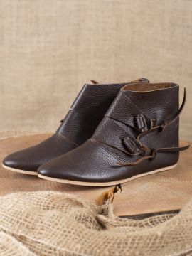 "Bottines ""Knut"" marron"