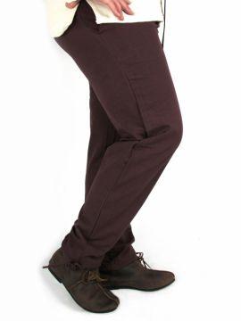 Pantalon médiéval serré aux chevilles, marron L