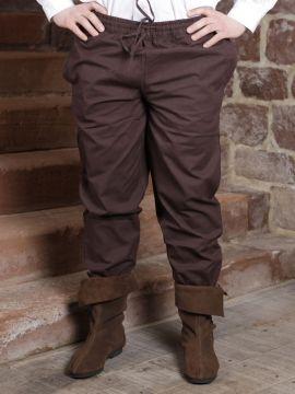Pantalon médiéval brun foncé L