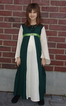 Robe de damoiselle bleu/écru