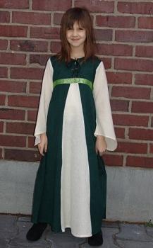 Robe de damoiselle vert/écru