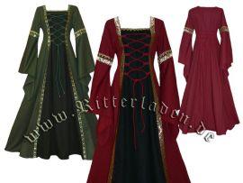 Robe médiévale Iris jusqu'au 48 | noir/vert