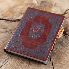 Carnet avec couverture en cuir 9 x 13 cm