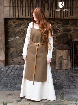 Robe viking Jodis en vert sous-bois L