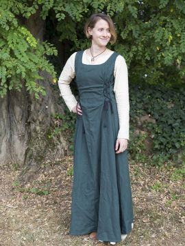 Robe médiévale sans manche en vert M