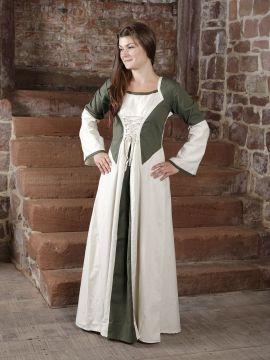 Robe bicolore en lin S/M