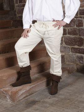 Pantalon médiéval écru L