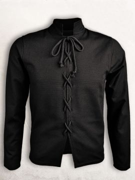 Pourpoint en coton noir XXL
