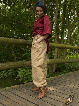 Pantalon paysan couleur sable M
