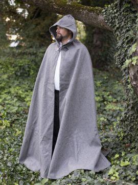 Cape unisexe en laine grise 131 cm