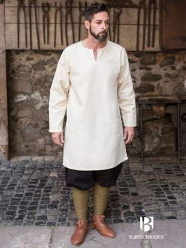 Tunique en coton peigné, blanc-écru XL