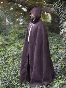 Cape unisexe en laine, en brun 131 cm