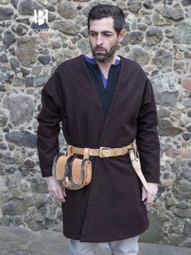 Veste croisée en laine en marron L