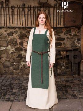 Robe tablier Gyda en vert L