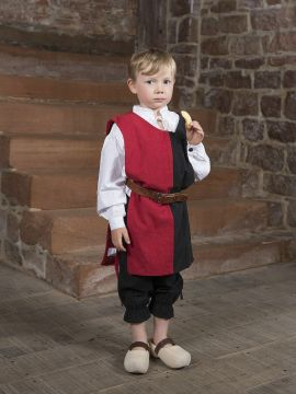 Tabard bicolore pour enfant 128 | écru/rouge