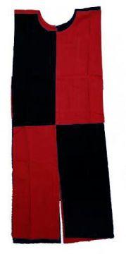 Tabard croisé noir/rouge