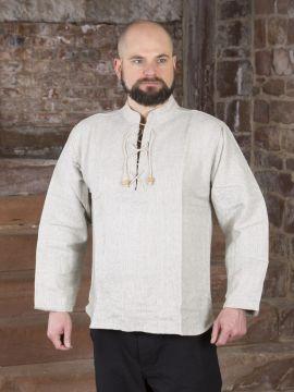 Chemise médiévale épaisse, en gris chiné L