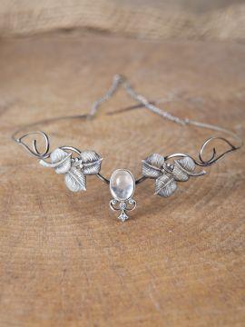 Couronne tiare avec perles blanche