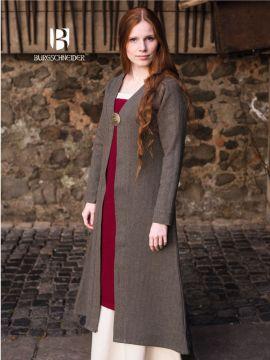 Manteau viking Siggi, en gris XXXL