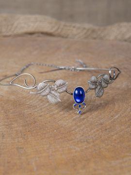 Couronne tiare avec perles bleue