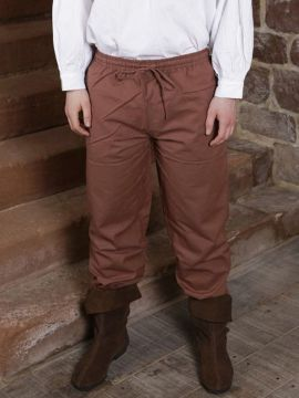 Pantalon médiéval en coton marron XXXL