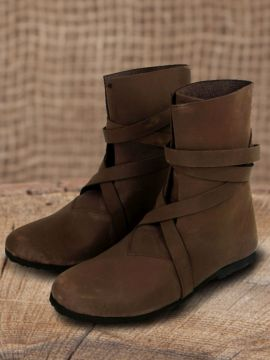Bottines viking en cuir suédé marron 46