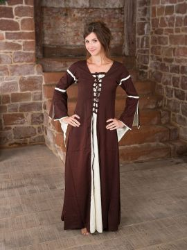 Robe médiévale à manches trompette M
