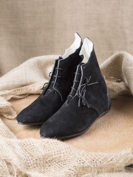 Bottines médiévales, semelle caoutchouc en noir 45