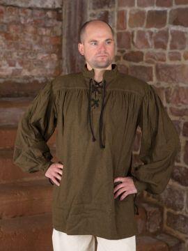 Chemise médiévale unisexe, marron XL