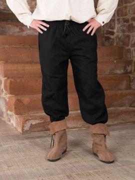 Pantalon médiéval en laine XXL | noir