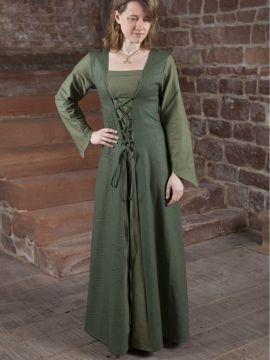 Robe médiévale Larea en vert 40