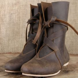 Bottines viking en cuir marron