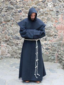 Habit de moine bénédictin en noir XXL/XXXL