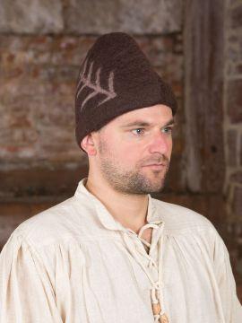 Chapeau médiéval rustique noir