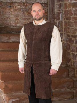 Tunique médiévale en cuir suédé XL