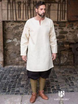 Tunique en coton peigné, blanc-écru S
