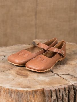 Chaussures médiévales tout cuir
