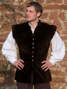 Veston médiéval Ludwig, en marron XXXL