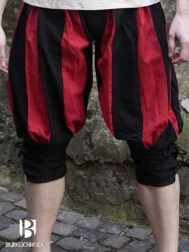 Culotte Lanquenet maximilien en rouge et noir L