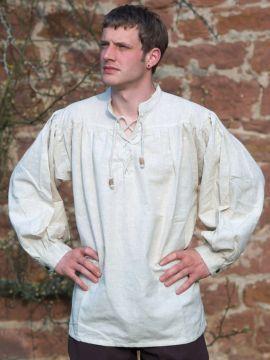Chemise médiévale XXXL | blanc-écru