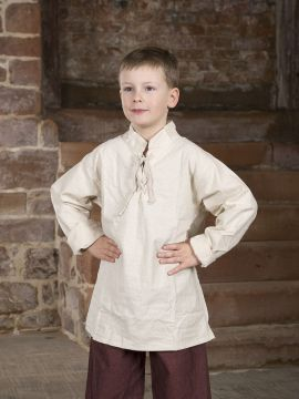 Chemise médiévale pour enfant blanc-écru