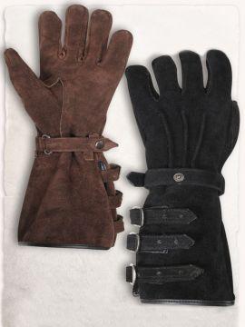 Paire de gants en daim L | marron