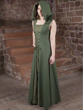 Robe médiévale Loris en vert 36