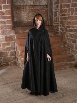 Manteau en laine Allan, en noir S/M