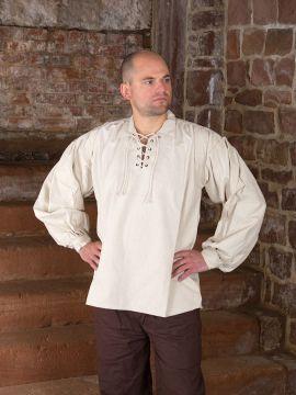 Chemise médiévale à manches bouffantes S