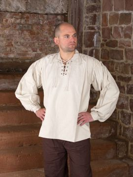 Chemise médiévale à manches bouffantes XXL