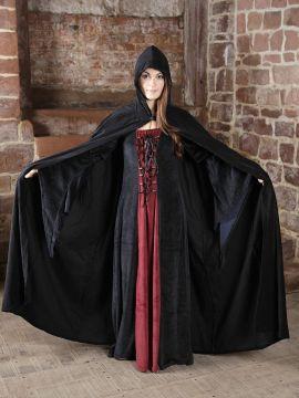Robe et cape XXL | rouge/noir | noir