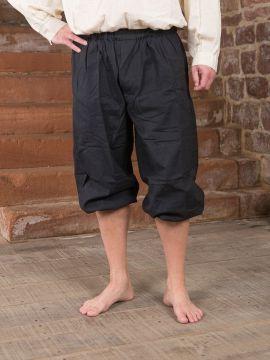 Pantalon médiéval court XXXL | noir