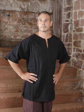 Tunique médiévale d'été, en noir XL