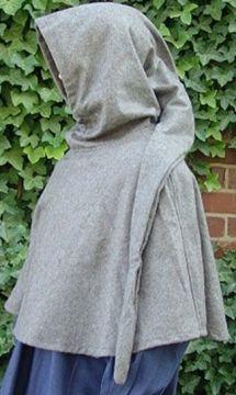 Capuchon en laine à longue capuche noir